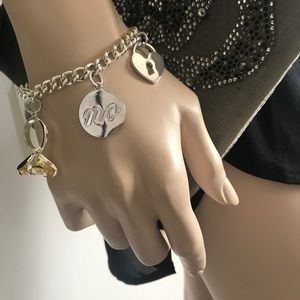 Ralph Lauren Charm Toggle Bracelet Diamond Crystal